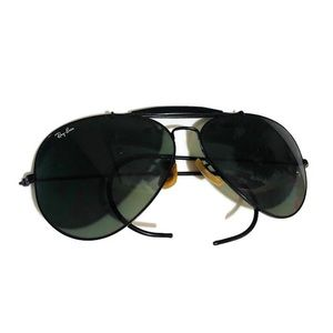 Vintage Ray Ban Aviator Sunglasses Black Men's